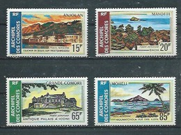 COMORES -  Yvert  PA N° 32 à 35 **  SERIE COMPLETE  Sites Des Comores - Comores (1950-1975)