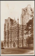 Wells Cathedral, Somerset, C.1940s - Walter Scott RP Postcard - Wells