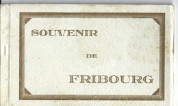 FRIBOURG - SOUVENIR DE FRIBOURG CARNET COMPLET 10 Cartes Sartori Genève - FR Fribourg