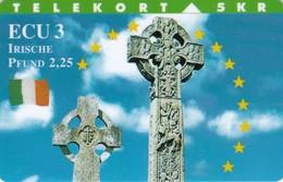 Denmark, TP 080, Ecu Series - Ireland, Cross, Flag, Mint Only 3000 Issued, 2 Scans. - Denmark