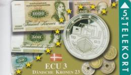 Denmark, TP 085, Ecu Series - Denmark, Coins, Notes, Flag, Only 1500 Issued, 2 Scans. - Denmark