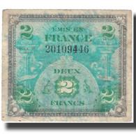 France, 2 Francs, 1944 Flag/France, 1944, 1944, B+, Fayette:VF16.2, KM:114a - 1944 Drapeau/France