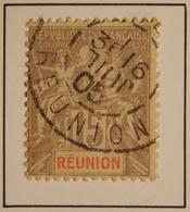 1900 - REUNION Y&T 48 Type Groupe (ex-colonies Et Protectorats)  Oblitéré 1905 - Réunion (1852-1975)