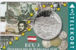 Denmark, TP 104A, ECU-Austria, Mint, Only 1500 Issued, Coins, Flag, Notes, 2 Scans. - Denmark