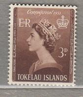 TOKELAU QEII Coronation 1953 SG 4 MLH (*)Look 2 Scans #23194 - Tokelau