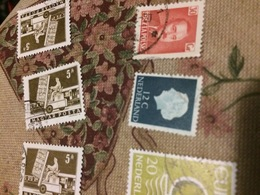 OLANDA REGINA BLU - Stamps