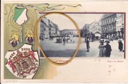 """VERVIERS Acp  Fantaisie 1900"""" Coins De Verviers :Place Du Martyr    """" écrite 1904  Voir Scans - Verviers"""