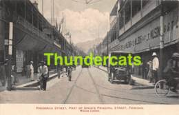 CPA  TRINIDAD  FREDERICK STREET PORT OF SPAIN'S PRINCIPAL STREET  TRAM - Trinidad