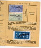 Gers 32 : Permis De Pêche Avec Timbres Fiscaux Taxe Piscicole  1975 (PPP15764) - Old Paper