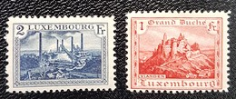 Luxembourg 1921- Vianden Et Esch/Alzette - Luxemburg