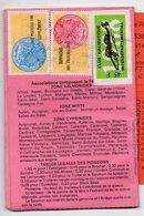 Sant Gaudens 31 Haute Garonne : Permis De Pêche Avec Timbres Fiscaux Taxe Piscicole  1988 (PPP157665) - Old Paper