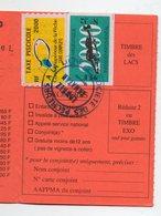 Gers 32 : : Permis De Pêche Avec Timbres Fiscaux Taxe Piscicole  2000 (PPP15767) - Old Paper