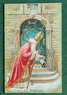 """2 Superbes Cartes """"Saint-Nicolas"""" - Ed. ? - 1905 - Avec Relief - Très Fin Et Superbes Couleurs - - Nikolaus"""