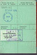 Samatan (Gers 32) : ^permis De Chasse 1976-77 Avec Timbre Fiscal (PPP15770) - Old Paper