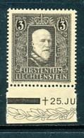 LIECHTENSTEIN Mi. Nr. 171 Tod Von Fürst Franz I - MNH - Liechtenstein