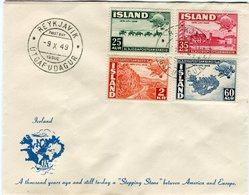 Iceland/Islande/Ijsland/Island FDC 9.X.1949 U.P.U. 75th Anniv. - FDC