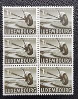 Luxembourg -Poste Aérienne 1946 ( 1f ) 6Pcs - Ongebruikt