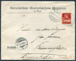 1916 Switzerland Bernisches Historisches Museum / Bern Historical Museum Cover - Frauenfeld Redirected Diessenhofen - Switzerland