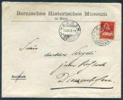 1917 Switzerland Bernisches Historisches Museum / Bern Historical Museum Cover - Diessenhofen - Switzerland