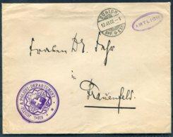 1902 Switzerland Justiz & Polizei Amtlich / Police Official Cover Zurich - Frauenfeld - Postmark Collection