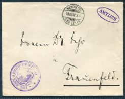 1902 Switzerland Justiz & Polizei Amtlich / Police Official Cover Neuchatel - Frauenfeld - Postmark Collection