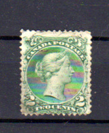 1868-90  Canada, Victoria,  20, (petit Mince   Light Thin Spot), Cote 50 €, - 1851-1902 Règne De Victoria