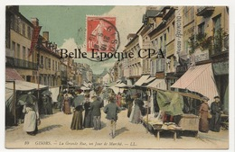 27 - GISORS - La Grande Rue - Un Jour De Marché ++++ LL, #10 ++++ 1910 ++++ - Gisors