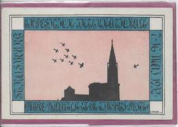 67.- CARTE PHILATELIQUE OFFICIELLE  L' Exposition Internationale  D' Aérophilatélie  Et De Timbres Poste  De STRASBOURG - Marcophilie (Lettres)