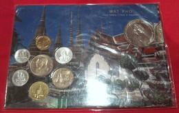 Neuf Rare Coffret Série 7 Pièces Thailande + 1 Médaille Unc Neuves Sous Pochette Pro Neuf ! - Thaïlande