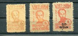 Viêt-Nam Du Nord , Série Timbres  Neufs 1949, Yvert 60/62. Cote €335 - Vietnam