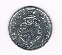 &  COSTA RICA  10 COLONES  2008 - Costa Rica