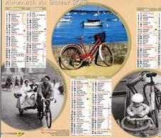 Calendrier Almanach Du Facteur 2013, 6 Scènes De Vélo, Cyclisme, Bike, Cycling - Calendars
