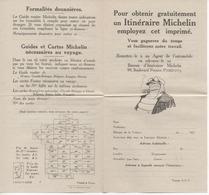 2 Formulaires Pour Recevoir Un Itinéraire MICHELIN - Alte Papiere