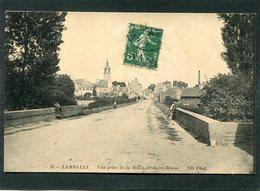CPA - LAMBALLE - Vue Prise De La Route De St Brieuc, Animé - Lamballe