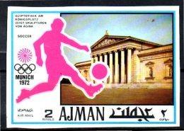 AJMAN     N°  * *  NON DENTELE   Jo 1972  Football Fussball Soccer - Calcio
