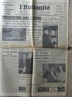 Journal L'Humanité (7 Janv 1960) Contre Le Racisme - L'Henoret - Picasso/Fréjus - 1950 - Nu
