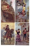 4 CPA Fantaisie - Raphael Tuck & Sons - OILETTE - Espagne - Tuck, Raphael