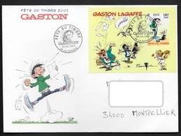 FRANCE BF N° 34 GASTON LAGAFFE 2001 SUR ENVELOPPE FDC VOIR  PHOTO - Blocks & Kleinbögen