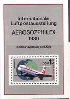République Démocratique Allemande Bloc Feuillet N°57 Interflug Et Aérosozphilex Expo Internationale De Poste Aérienne - [6] République Démocratique