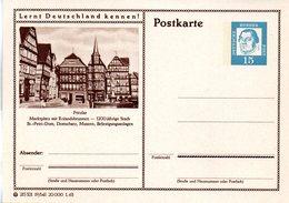 """BRD Bildpostk. Lernt Deutschland Kennen! """"Wz 15(Pf) Martin Luther, Blau, P81 215321 19/141 """"Fritzlar"""" Ungebraucht - [7] Federal Republic"""