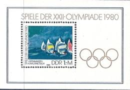 République Démocratique Allemande, Bloc Feuillet N°58, Jeux Olympiques De Moscou - [6] République Démocratique