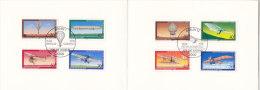 MINISTERKARTE Typ V - ESST 13.4.1978, BRD 964-7 + BERLIN 563-6, Jugend: Ballon, Zeppelin, Ein- Und Doppedecker - [7] République Fédérale