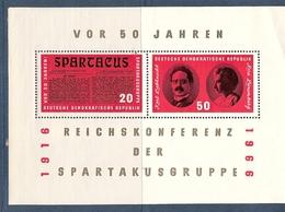 République Démocratique Allemande, Bloc Feuillet N° 20, Groupe Spartacus - [6] République Démocratique