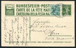 1939/40 Neujahr Switzerland Uprated (1914) Bundesfeier Postcard. Glarus - Switzerland