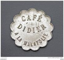 """Jeton Nécessité """"Bon Pour 12c 1/2 En Consommation / Café Didier à La Malafolie (Le Chambon-Feugerolles) Mines De Firminy - Monetary / Of Necessity"""
