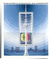 République Démocratique Allemande, Bloc Feuillet N° 25,  Berlin, Tour De Télévision - [6] République Démocratique
