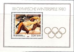 République Démocratique Allemande, Bloc Feuillet N°55, Jeux Olympiques D'hiver à Lake Placid - [6] République Démocratique