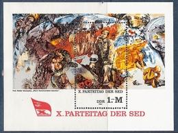 République Démocratique Allemande, Bloc Feuillet N°61, 10ème Congrès Du Parti Socialiste - [6] République Démocratique