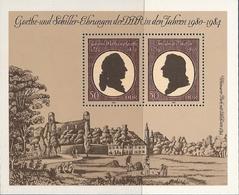 République Démocratique Allemande, Bloc Feuillet N°64, Goethe Et Schiller - [6] République Démocratique
