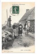 Cpa....la Bretagne Pittoresque.....a L'Ile De Batz....animée...1907.... - Ile-de-Batz